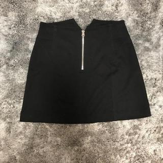 ルシェルブルー(LE CIEL BLEU)のルシェルブルー ポンチスカート 黒 40 (ミニスカート)