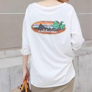 DEUXIEME CLASSE - ドゥーズィエム クラス ラグランバックプリントTシャツ
