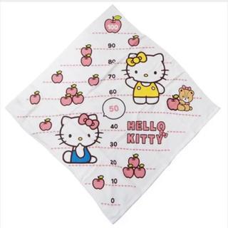 ハローキティ - ハローキティ 身長計湯上げタオル/なかよしアップル