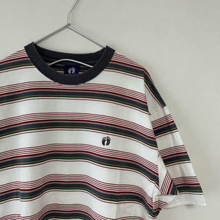 ハンテン(HANG TEN)の古着  90s  HANG TEN  マルチカラー ボーダー Tシャツ(Tシャツ/カットソー(半袖/袖なし))
