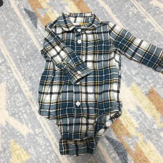 babyGAP - 【GAP】チェックシャツ ロンパース 70cm