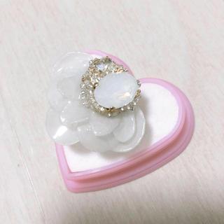 カンナビス レディース(CANNABIS LADIES)のmu-mu phantom FLOWER crystal リング(リング(指輪))