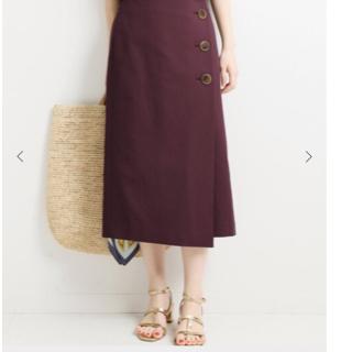 イエナ(IENA)の3つボタンセミタイトスカート(ひざ丈スカート)