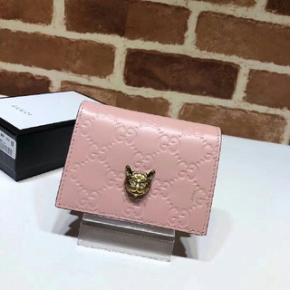 Gucci - グッチ 折財布 ピンク【美品