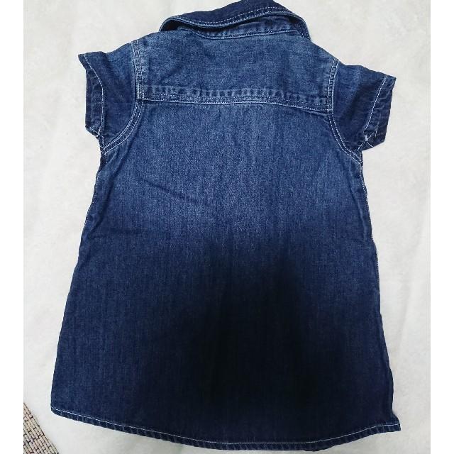 BREEZE(ブリーズ)のBREEZE ワンピース デニム ブリーズ キッズ/ベビー/マタニティのベビー服(~85cm)(ワンピース)の商品写真