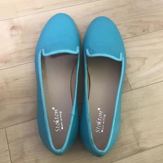 トッズ(TOD'S)の本革 22 ターコイズブルー 22.5 (ローファー/革靴)