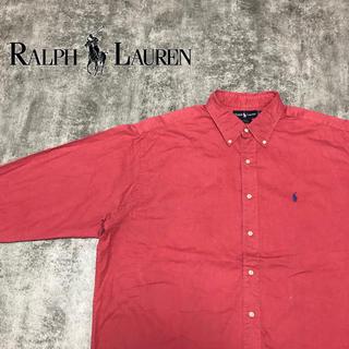 Ralph Lauren - 【激レア】ラルフローレン☆ワンポイント刺繍ロゴボタンダウンビッグシャツ 90s