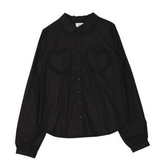 merry jenny - merryjenny ハートポケットシャツ