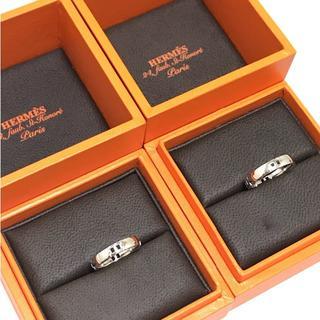 エルメス(Hermes)の《お値下げ》HELMES 4Hヘラクレス ペアリング 52 48 2本組  本物(リング(指輪))