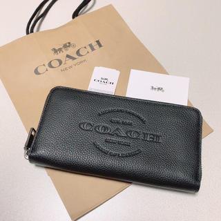 COACH - 新品 COACH 長財布 人気 ロゴ ブラック