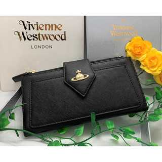 Vivienne Westwood - 〈浪費防止!〉 【ヴィヴィアンウエストウッド】 長財布 二つ折り 黒 新品