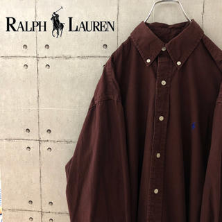 Ralph Lauren - 【訳あり】90s ラルフローレン チノシャツ BDシャツ 長袖