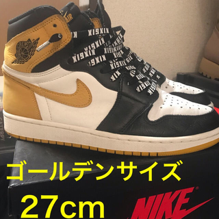 NIKE - 即決値下げ NIKE AIR JORDAN1 yellow ochreジョーダン