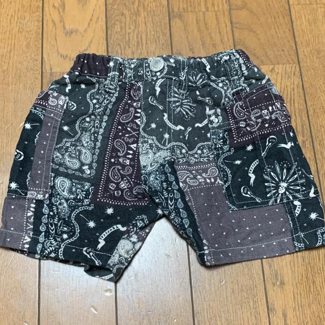 BREEZE(ブリーズ)のBREEZE バンダナ柄のハーフパンツ 80センチ キッズ/ベビー/マタニティのベビー服(~85cm)(パンツ)の商品写真