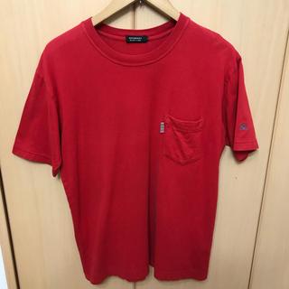 バーバリーブラックレーベル(BURBERRY BLACK LABEL)のBURBERRY BLACK LABEL ポケット Tシャツ レッド(Tシャツ/カットソー(半袖/袖なし))