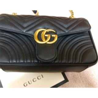 Gucci - GUCCI GGマーモント チェーンショルダーバッグ キルティング グッチ