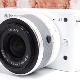 Nikon - 超人気!!Nikon J1 ホワイト 手ぶれ補正