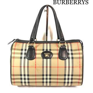 BURBERRY - バーバリー BURBERRYS ミニボストン ハンドバッグ チェック レトロ