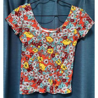 スライ(SLY)の花柄Tシャツ(Tシャツ(半袖/袖なし))
