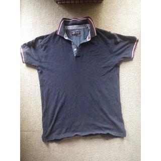 ビームス(BEAMS)のBEAMS  紺ポロシャツ M(ポロシャツ)