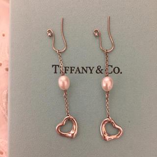 Tiffany & Co. - ティファニー パールバイザヤード オープンハート ピアス