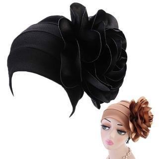 新品◆ビッグフラワー帽子 ブラック