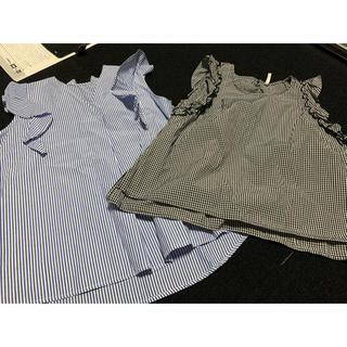 ヒロココシノ(HIROKO KOSHINO)の美品、新品!おしゃれノースリーシャツ2枚セット(シャツ/ブラウス(半袖/袖なし))