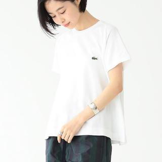 ビームス(BEAMS)のBEAMS/ LACOSTE 別注 AラインクルーネックTシャツ(Tシャツ/カットソー(半袖/袖なし))