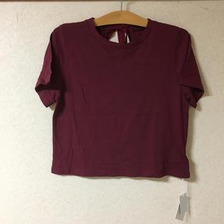 スライ(SLY)の●新品 SLY スライ バックリボン Tシャツ カットソー トップス  (Tシャツ(半袖/袖なし))
