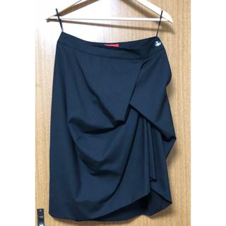 Vivienne Westwood - ヴィヴィアンウエストウッド☆エナメルオーブボタンスカート 黒