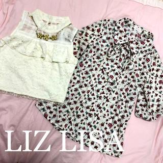 リズリサ(LIZ LISA)のLIZ LISAトップスセット売り②パフスリブラウス&ハイネック(カットソー(半袖/袖なし))