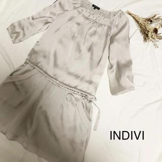 インディヴィ(INDIVI)のINDIVIワンピース(ひざ丈ワンピース)