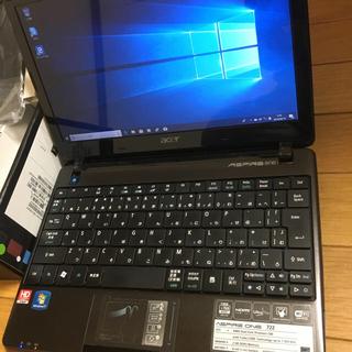 エイサー(Acer)のaspire one 722 AO722-CM303 windows10(ノートPC)