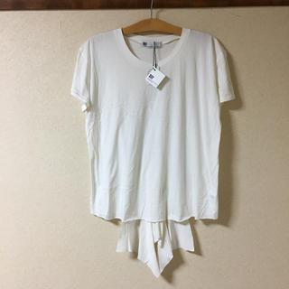 スライ(SLY)の●新品 SLY スライ  デザイン Tシャツ   白 ホワイト  フリーサイズ (Tシャツ(半袖/袖なし))