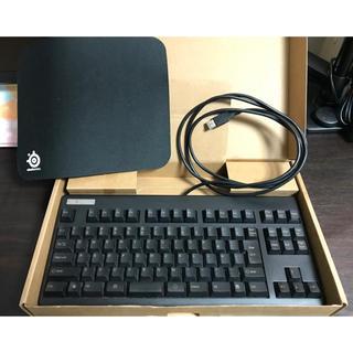 東プレキーボード REALFORCE 91UBKとゲーミングマウスパッド