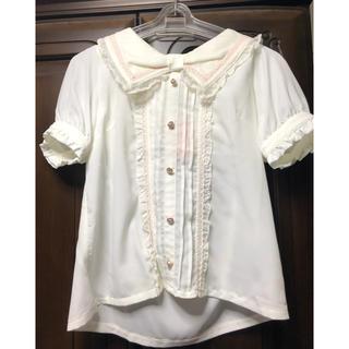 リズリサ(LIZ LISA)のLIZLISA リズリサ リボン セーラー襟 ブラウス(シャツ/ブラウス(半袖/袖なし))
