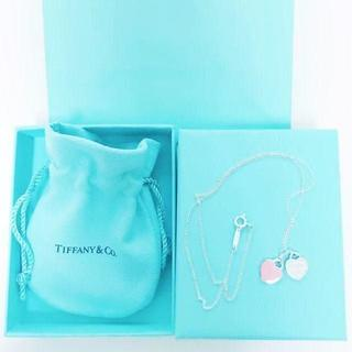 Tiffany & Co. - ☆新品☆未使用☆ティファニー リターントゥダブルハートタグペンダント ピンク