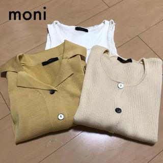 872◎moni サマーニット タンクトップ 小さいサイズ 3点セット(Tシャツ(半袖/袖なし))