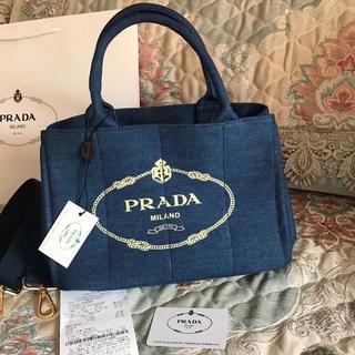 PRADA - プラダ 2way カナパ トートバッグ デニム色