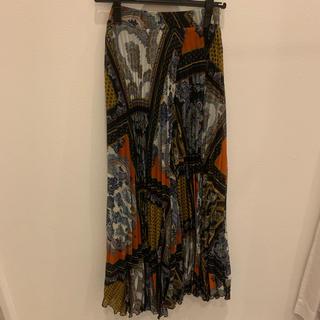 エイチアンドエム(H&M)のプリーツロングスカート (ロングスカート)