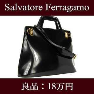 Salvatore Ferragamo - 【限界価格・送料無料・良品】フェラガモ・2WAYショルダーバッグ(F014)