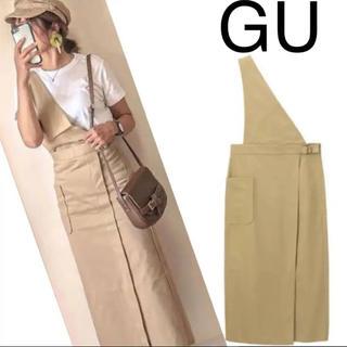 GU - GU♡大人気♡ワンショルダー♡サスツキ♡ナロー♡ミディスカート♡M