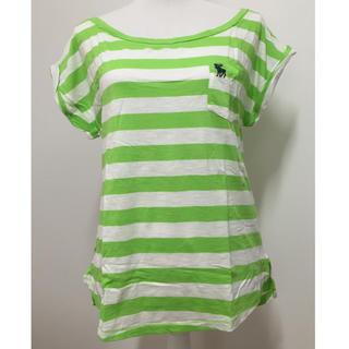 アバクロンビーアンドフィッチ(Abercrombie&Fitch)のAbercrombie&Fitch★黄緑×白 Tシャツ Lサイズ 新品未使用(Tシャツ(半袖/袖なし))