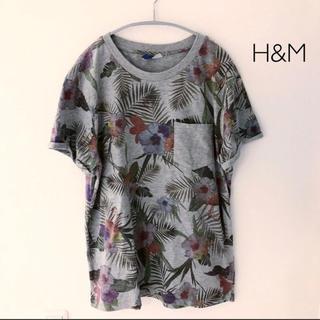 エイチアンドエム(H&M)のH&M 花柄Tシャツ Mサイズ(Tシャツ/カットソー(半袖/袖なし))
