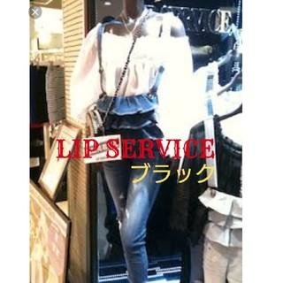 リップサービス(LIP SERVICE)の美品 LIP SERVICE フリルサロペット(サロペット/オーバーオール)