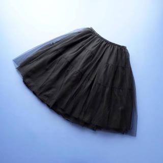 ルネ(René)の■Rene■ 34 黒 たっぷりチュール スカート ルネ(ひざ丈スカート)