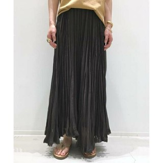 L'Appartement DEUXIEME CLASSE - L'Appartement◆◇Pleats Skirt ◆ brown