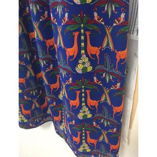 titicaca - チチカカ サファリ柄ロングスカート
