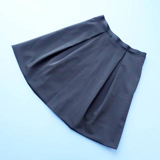 フォクシー(FOXEY)のFOXEY NY■ 40 チャコール系 バルーンフレアスカート(ひざ丈スカート)
