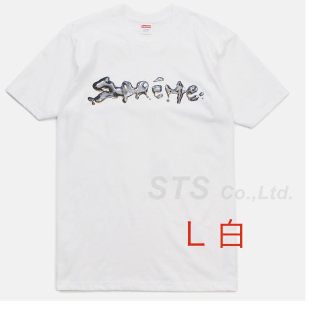 Supreme(シュプリーム)のsupreme liquid tee 白L WHITE メンズのトップス(Tシャツ/カットソー(半袖/袖なし))の商品写真
